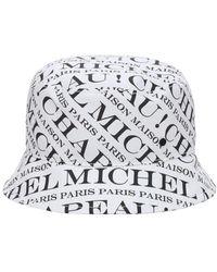 "Maison Michel - Cappello Bucket ""axel"" In Cotone - Lyst"