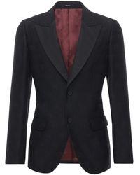 Gucci Gg ウール&シルクジャカードタキシードジャケット - ブラック