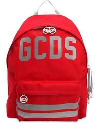 Gcds Sac à dos en nylon avec logo réfléchissant - Rouge