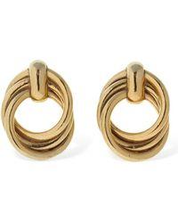Magda Butrym Maple Hoop Earrings - Mettallic