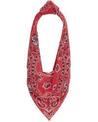 Alexander Wang Rhinestone Bandana Scarf Top Handle Bag - Red