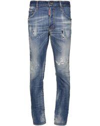 DSquared² Jean Skater En Denim De Coton 16,5 Cm - Bleu
