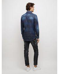DSquared² Icon Western コットンデニムシャツ - ブルー