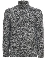 Brioni Sweater Aus Kaschmir- Und Seidenstrick - Schwarz