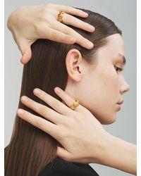 Versace Ring Mit Medusa - Mettallic