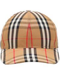 Burberry Beige Vintage Check Baseball Cap - Multicolour