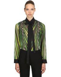 Elie Saab - Printed Crepe Georgette Shirt - Lyst