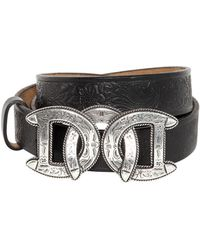 DSquared² - 30mm Dd Buckle Leather Western Belt - Lyst