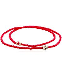 Luis Morais - Ruby Barrel Double Wrap Bracelet - Lyst