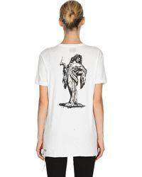 Ksubi Miss Information Cotton Jersey T-shirt - White