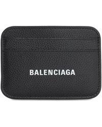 Balenciaga - Кожаная Кредитница С Логотипом - Lyst