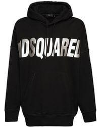 DSquared² オーバーサイズジャージーフーディー - ブラック