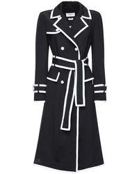 Thom Browne シルクトレンチドレス - ブラック