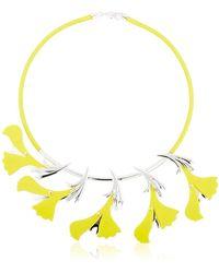 EK Thongprasert Silicone Flower Necklace - Yellow