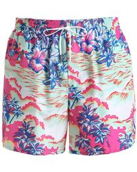 DSquared² - 32cm Hawaiian Printed Nylon Swim Shorts - Lyst