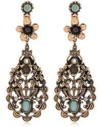 Alcozer & J - Floral Drop Earrings - Lyst