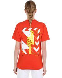 "Still Good T-shirt ""texture"" In Jersey Di Cotone - Arancione"