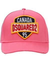 DSquared² Canada コットンキャンバスキャップ - ピンク