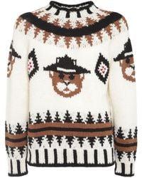 DSquared² Beaver Wool Jacquard Knit Jumper - Multicolour