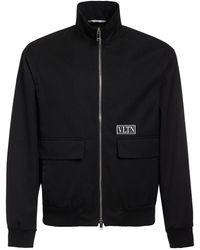 Valentino - Куртка Из Хлопка И Техноматериала - Lyst