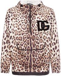 Dolce & Gabbana - Куртка Из Нейлона С Леопардовым Принтом - Lyst