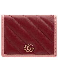 Gucci Кожаный Кошелек Gg Marmont - Красный