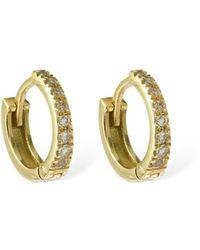 AG Jeans 18ktゴールド&ダイヤモンドフープピアス - マルチカラー