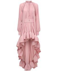 Lanvin フリルシャツドレス - ピンク