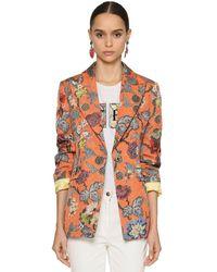 Etro Printed Brocade Blazer Jacket - Multicolour