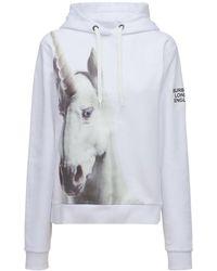 Burberry Unicorn コットンスウェットフーディー - ホワイト