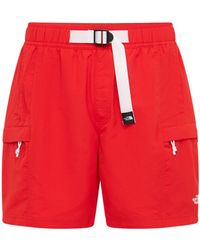 The North Face Ic Class V Belted Trunk Shorts - Red