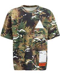 Heron Preston オーバーサイズコットンtシャツ - グリーン