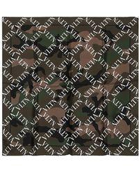 Valentino - Sciarpa In Seta Camouflage - Lyst