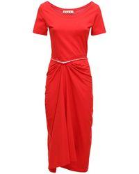 Marni Платье Из Хлопка - Красный