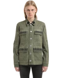 John Richmond Washed Cotton Jacket - Green