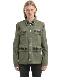 John Richmond Washed Cotton Jacket - グリーン
