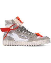 "Off-White c/o Virgil Abloh Hohe Sneakers Asu Leder ""off Court"" - Mehrfarbig"