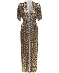 Paco Rabanne Leopard メタルメッシュドレス - マルチカラー