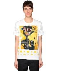 Comme des Garçons - Basquiat Printed Cotton Jersey T-shirt - Lyst