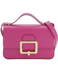 Bally Janelle Leather Shoulder Bag - Purple