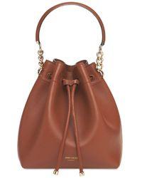 Jimmy Choo Bon Bon Leather Bucket Bag - Коричневый