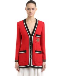 Gucci - Single Breasted Wool Sable Jacket - Lyst