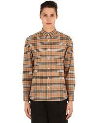 """Burberry Camicia """"George"""" In Popeline Di Cotone Stretch - Multicolore"""