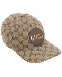 Gucci Baseballkappe Aus Gg-baumwollcanvas - Natur
