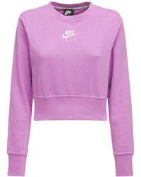Nike Kurzes Sweatshirt - Lila