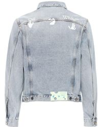 Off-White c/o Virgil Abloh Куртка Из Хлопкового Деним С Логотипом - Синий