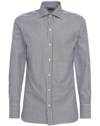 Tom Ford - ストライプコットンシャツ - Lyst