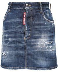 DSquared² コットンデニムミニスカート - ブルー