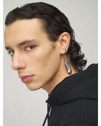 Ambush Feather Charm Mono Earring - Metallic