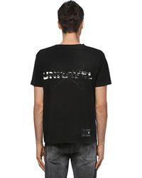 Unravel Project コットンジャージーtシャツ - ブラック